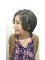ヘアーリゾートラシックアールプラス(hair resort lachiq R+)《R+》アッシュグレー☆小顔ショートボブ