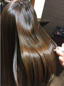 ヘアーアンドメイク ぐらしあす 西宮北口本店(Hair & Make gracias)の写真/【西宮北口】トリートメントも一緒にすることでサラサラなストレートへ★自然な仕上がりでお手入れも楽ちん