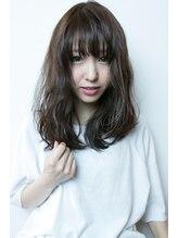 メープルヘアデザイン(Maple hair design)Maple hair 透けバングミディアムウェットスタイル