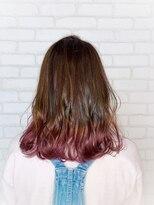 ビス ヘア アンド ビューティー 西新井店(Vis Hair&Beauty)裾カラー/ピンク/ラベンダー/グラデーション/ベージュ/ブリーチ