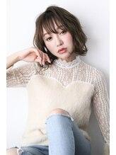 ルフ ヘアーデザイン(ruf hair design)【ruf hair design】シースルーバング外ハネボブ