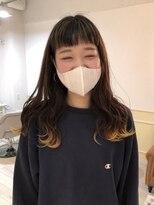 【li'a】前髪ハイライト×裾カラー