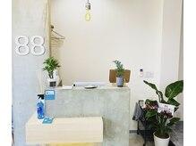 エイティエイト(88)の雰囲気(モルタル.ウッドの都会的かつモダンでスタイリッシュな空間です!)