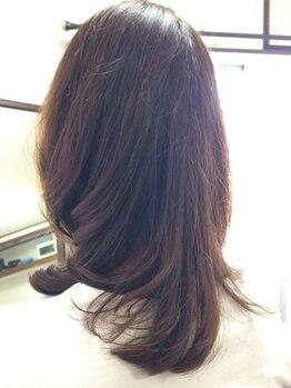 ヘアクリエイト タフス(Hair Create Tafs)の写真/Tafsのファッションカラーは白髪もしっかり染まる!明るいカラーもOK!秋だからこそ女度UPの柔らかな印象に♪