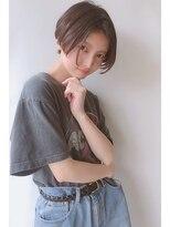 【morio 原宿】黒髪 ショートボブ センターパート 前髪なし