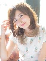 アルファ インタラクティブ エム フラワー(ALUFA interactive.M Flower)【インナーカラー】大人可愛い☆ウルフレイヤースタイル