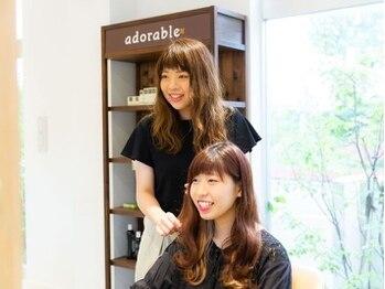 アドラーブル 松崎店(adorable)の写真/似合わせのプロが創る女性目線で惹き出す小顔スタイル☆キレイを叶える高技術力、ハイセンスなデザインが◎