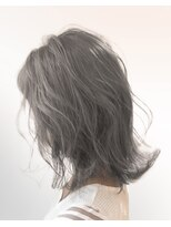 オーブ ヘアー ノア 熊谷店(AUBE HAIR noa)【AUBE HAIR】シアグレー_外ハネボブ