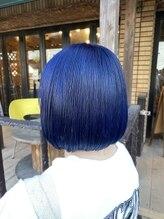 ヘアーサロン ミル(hair salon MiL)【MiL】#暗髪カラー #ネイビーブルー #ネイビーカラー