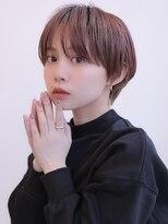 《Agu hair》ピンク×艶マッシュショート