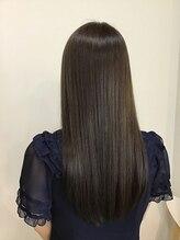 ティエヘアー(tie hair)『tie hair』 アプリエ☆大人かわいいグレージュ ロング