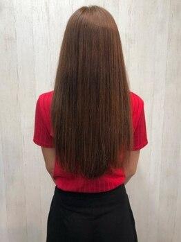 アルファ ヘアー デザイン(alpha hair design)の写真/クセ毛でお悩みの方はもちろん、ボリュームダウンだけなど、オシャレを楽しむ縮毛矯正も叶えられます☆