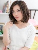 【macaron富田】大人可愛い☆ゆるふわツヤ髪ベージュ
