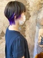 マギーヘア(magiy hair)magiyhair【nico】ショートウルフ&ブリーチカラー ライラック
