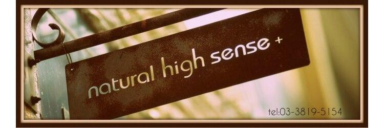 ナチュラルハイセンスプラス(natural high sense+plus)のサロンヘッダー