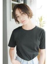 ローレン(Loren)毛先軽め外はねミックスショート☆「シースルーバング」重軽ロブ