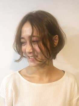 ヘアメイク オブジェ(hair make objet)の写真/ブローなしでもスタイルきまる☆再現しやすいと評判の高い秘密のカットは3段階に分けて行う技術にあり♪