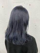 シンディ カラーサロン(CYNDY color salon)ネイビーブルーカラー☆