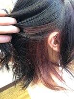 インナーカラー×ピンクパープル