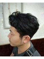 ポンヘアー(PON hair)大人の七三スタイル