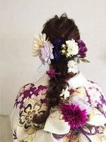 〔ange maco〕成人式flowerヘア