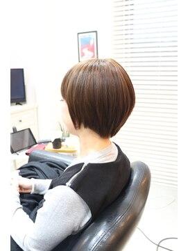 髪質改善特化サロン Sショートの縮毛矯正