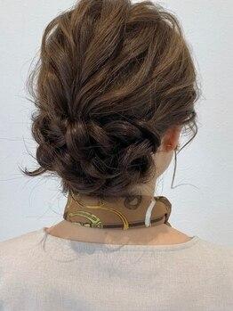 ヘアーメイク アンソメット(HAIR MAKE)の写真/二次会や結婚式など特別な日は【HAIR MAKE アンソメット】にお任せ!大人可愛いstyleを提案◎