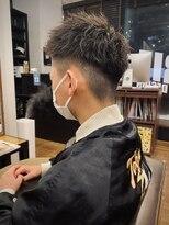 【IRIE HAIR赤坂】束感カット×フェードスタイル×アップバング