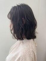 オーブ ヘアー ケイ 鈴鹿店(AUBE HAIR kay)【AUBE HAIR】シアーブラウン_ぱつっとボブ