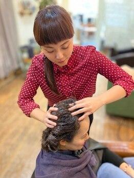 フィーノ(fino)の写真/全身潤うクリーム付きが嬉しいヘアエステ★ヘッドマッサージで頭皮クレンジングやトリートメント効果も♪