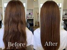 持続力に自信!自然な仕上がり・髪の質感にする酸熱トリートメント『link』