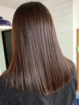 ワンバイワン(One×One)の写真/クセ毛や広がりでお悩みの方におすすめの縮毛矯正!高い技術で再現性×なりたい姿を重視して施術します♪