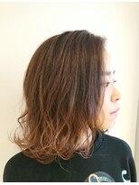 ヘアーリゾートラシックアールプラス(hair resort lachiq R+)《R+》ラベンダーグレージュ☆ミディアム外はね