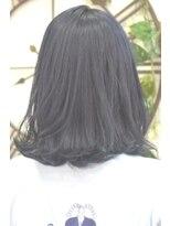 ヘアーサロン エール 原宿(hair salon ailes)(ailes原宿)style366 デザインカラー☆濃紺ブルーブラック