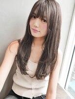 アンジェリカ ハラジュク(Angelica harajuku)Angelica白石研太 グレージュクラシカルボルドーフェザーロング