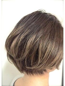 ニコアヘアデザイン(Nicoa hair design)ボブ×グラデーションカラー