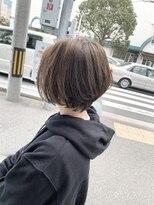 絶壁解消前髪なし大人カワイイ丸みショートボブ【BLAZE 大庭】