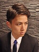 ヒロギンザ 恵比寿店(HIRO GINZA)ツーブロックビジネスショートレイヤーかき上げコンマヘア