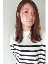 コンビネーション(combination)ツヤ髪☆ストレート☆毛先カール☆透明感のあるブラウンカラー☆