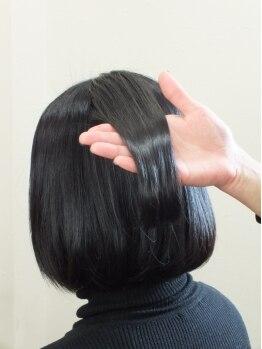 カミユアンドクレールヘアー(Kamiyu&Clair hair)の写真/大好評のハーブカラー★髪と頭皮に優しく、ハリ・コシ・ツヤのある美髪を実現!!カット+ハーブカラー¥7020