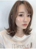 ヘア デザイン エシレ(Hair design esille.)外ハネ×ベージュカラー