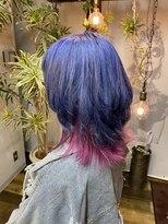 コレット ヘアー 大通(Colette hair)Blue×Pink