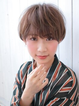 アグ ヘアー ローサ 青山イオン前店(Agu hair rosa)の写真/【カット¥2200】繊細でハイレベルなカット技!黄金バランスで小顔効果も。ショートボブ&前髪作りもお任せ!