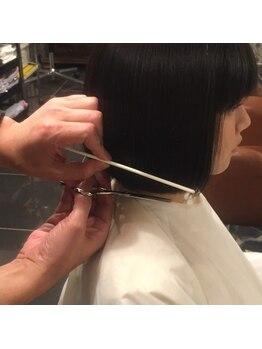 アローヘアーサロン(arrow.hair salon)の写真/「お手入れが簡単!」「手間がかからない!」と人気のarrow.hair salonのカット技術☆イメチェンもお任せ♪