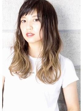 ヘアサロン ガリカ 表参道(hair salon Gallica)『 プラチナグレージュ & グラデーション 』 semi long ☆