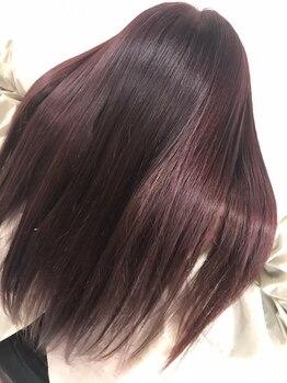 トータルビューティーサロン ディーグレース(TotalBeautySalon D.Grace)の写真/【艶カラーでオトナ度をUP☆】トレンドの最旬デザインもNoブリーチで艶を重視!自慢したくなる艶髪カラー♪