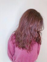 ロングヘア×ベリーピンク