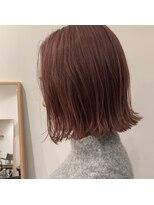 セカンド(2nd)切りっぱなしボブ/髪質改善/ピンク/外ハネボブ