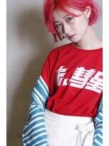ヘアーアイスカルテット(HAIR ICI QUARTET)レッド × ピンク × ボブ