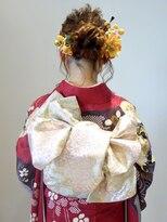 フラココトリコ(hurakoko trico)[hurakokotrico]和泉美佳 ゆるふわガーリー成人式ヘアセット